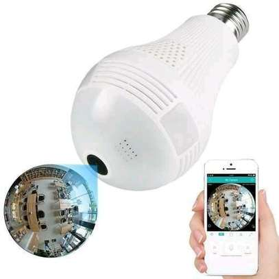 Panoramic 360 degrees 1080P 2.0MP 3 LED Light Bulb Wi-Fi Hidden Camera, IR night vision, image 1
