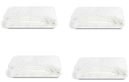 waterproof plain white mattress protector 5by 6 image 2