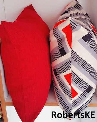 orange soft throw pillows image 1