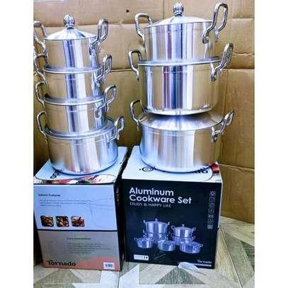 World Tornado Stainless Alluminium Cookware pot Sufuria set image 1