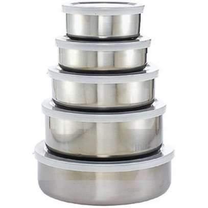 Stainless Steel Storage Food Bowl Containers - Set of 5 image 2
