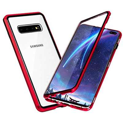 Magnetic Luxury Cases For Samsung S10 S10e S10 Plus With Tempered Back Glass image 3