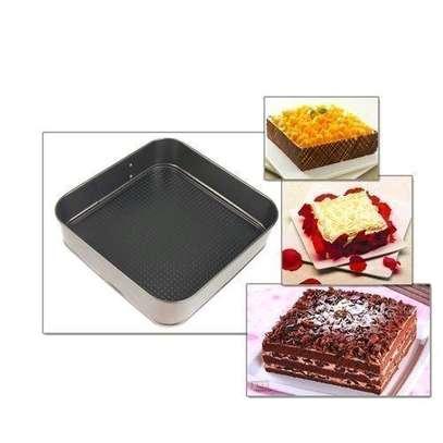 Generic 3pcs Non Stick Cake Tray Pan Bakeware Springform Tray Pan Tins Chocolate Baking Cake Mould Round Heart Square Set Kitchen Gadgets Cooking Tool image 4