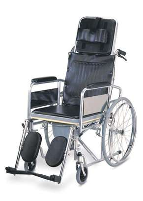 Reclining Commode Wheelchair image 1