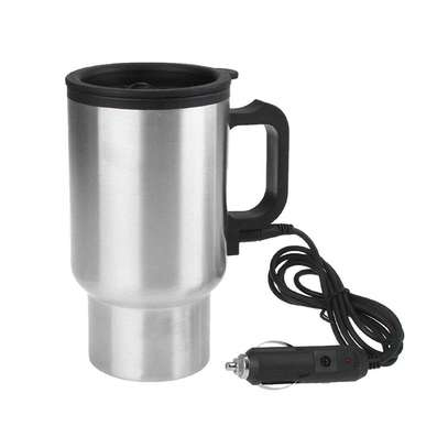12V Car Electric Thermos Travel Mug Stainless Steel image 2