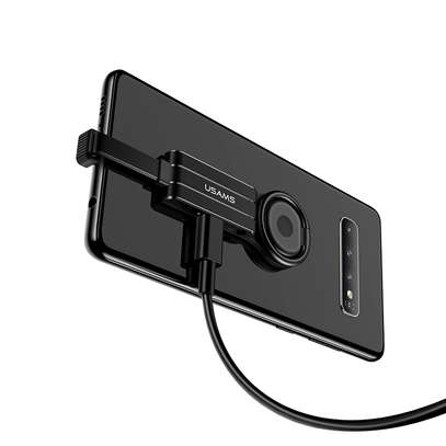 USAMS Type-c To Aux 3.5mm + Type-c Phone Ring Holder Adapter image 2