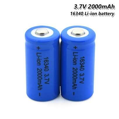 16340 Rechargeable Blue Li-Ion Batteries 3.7v image 1