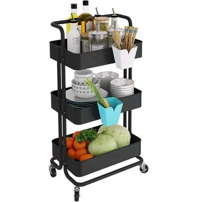 New trolley movable kitchen organizer image 3