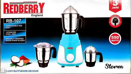 Redberry RB-107 Heavy Duty Stainless Steel Blender 550W, 1.5L - Storm image 1