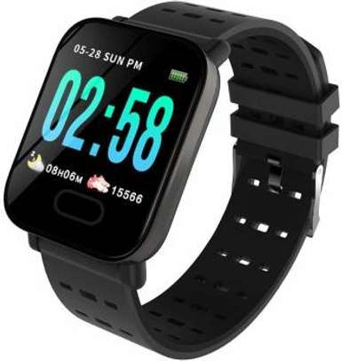 A6 Smart Watch Activity Fitness Tracker Heart Rate Monitor-Black image 2