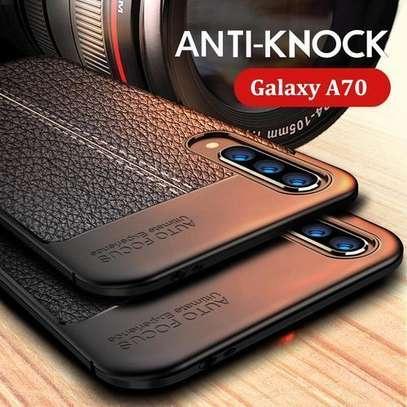 Autofocus Soft Silicone Shockproof Full Protection Cover For Samsung A70- Black A50s A30s A20s A10s image 1