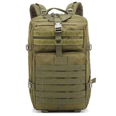 Olive green vintage army bag pack image 2