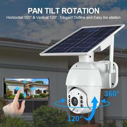 4G 2MP HD LTE PTZ Cctv Solar Powered IP Camera With Motion sensor image 3