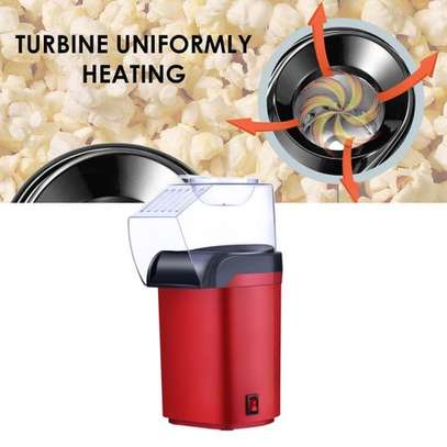 Small Hot Air Electric Popcorn Popper Maker Machine EU Easy Store Red image 4