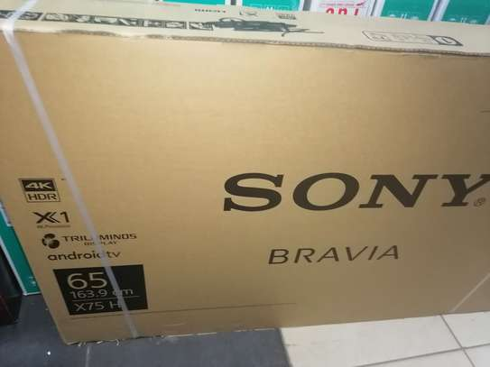 Sony 65 Inch smart android x7500h led tv 2020 image 2