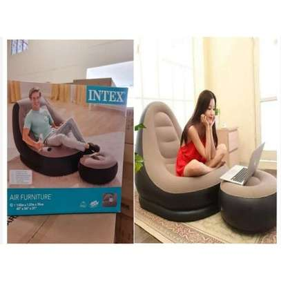 Multifunctional Inflatable Seat With Footrest +Pump-intex portable image 1