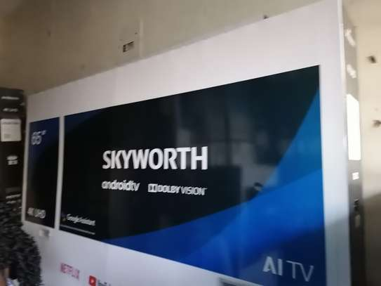 Brand new 65 Inch skyworth smart android 4k uhd TV image 1