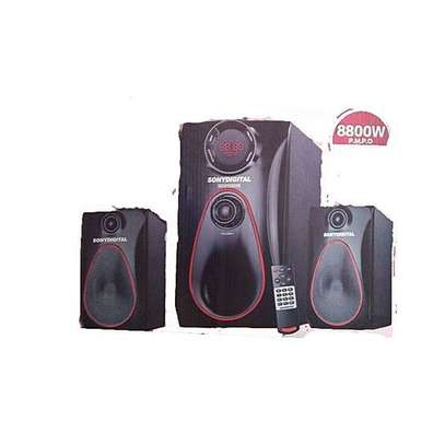 3105MS  SOUND SYSTEM FM-USB-BLUETOOTH-8800 WATTS WITH 2SPEAKERS image 2