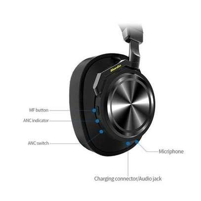 Bluedio T6S (Turbine) Active Noise Canceling Bluetooth Stereo Headphone - Black image 2
