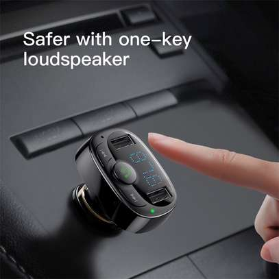Baseus Dual USB 3.4A Car Charger MP3 Audio Player FM Transmitter Handsfree Aux Modulator Mobile Phone Charger image 6
