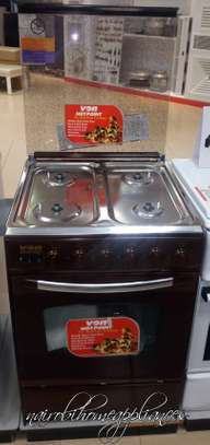 Von Hotpoint C5555EN/SN 4 Gas Cooker - Brown