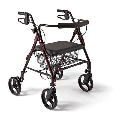 Four Wheels folding Lightweight Rollator Walker​ (Aluminum Walking Aid Walker Rollator with shopping basket) image 3