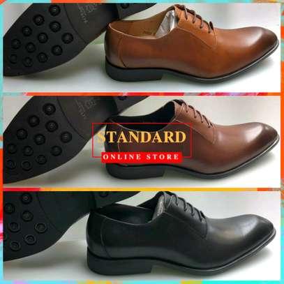 Men's Official Italian Leather Shoes with rubber sole image 8