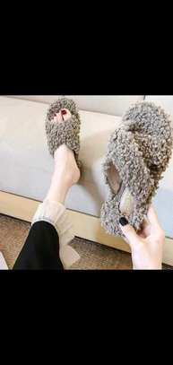 Ladies Open Fluffy sandals image 3