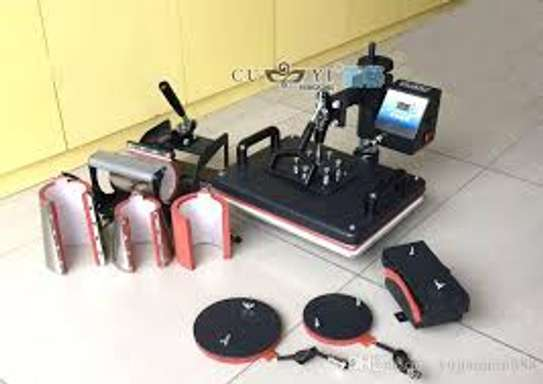 5 in 1 and 8 in   1 Combo Heat Press Printer Machine 3D Thermal Transfer image 1