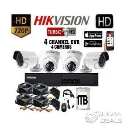 Four 4 CCTV camera Complete cameras sale image 2