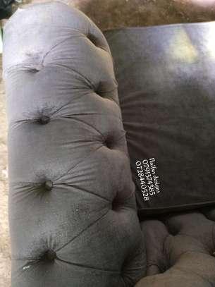 Three seater sofa/grey sofas/buttoned sofas/chesterfield sofas/sofas for three image 4