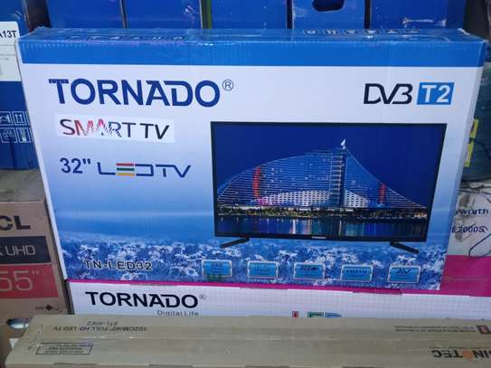 Tornado Smart 32 Inch Android TV With Netflix YouTube WiFi Brand New image 1