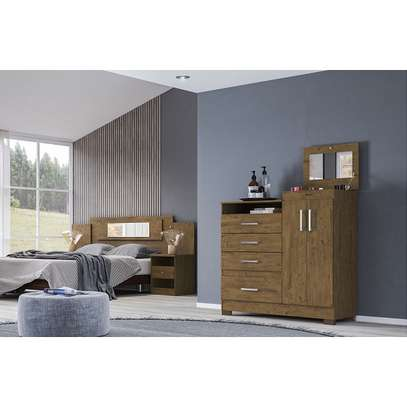 Moval Chest Elegance Dresser 4 Drawers & 2 Doors With MirrorMoval Chest Elegance Dresser 4 Drawers & 2 Doors With Mirror image 2