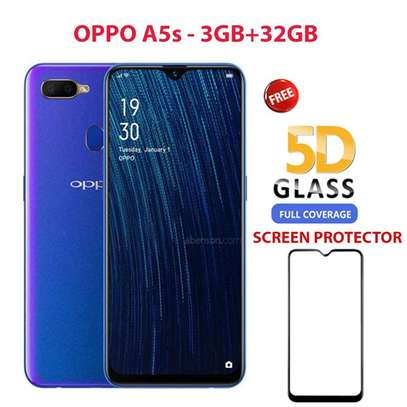 """Oppo A5s, 6.2"""", 32GB + 3GB (Dual SIM) 4G - Blue+ FREE FUL 5D SCREEN PROTECTOR image 1"""