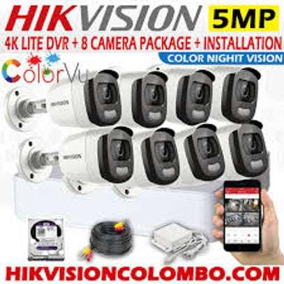 8 Dark Fighter ColorVu CCTV complete package + INSTALLATION image 1