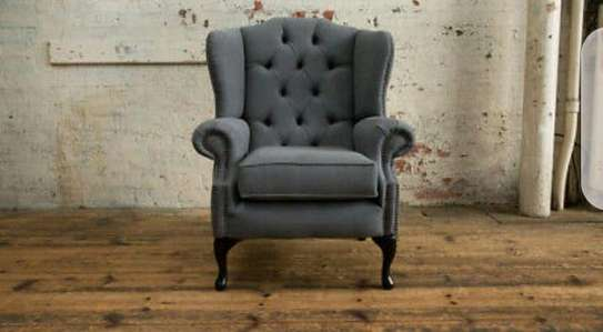 Handsome Contemporary Quality Wingback Chair