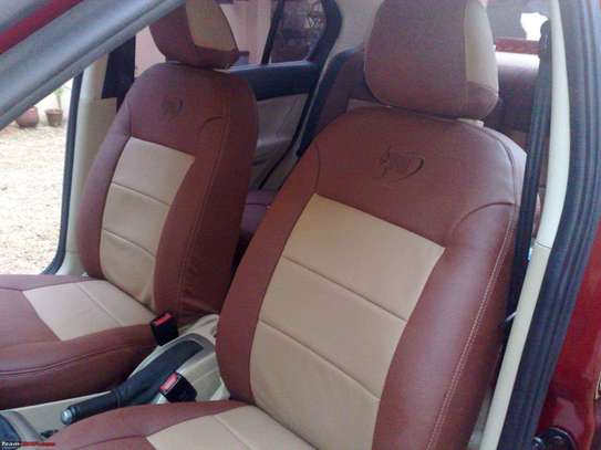 Car Seats Covers Leather Upholstery image 3