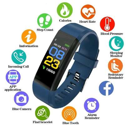 Smart band fitness tracker image 1