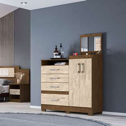 Moval Chest Elegance Dresser 4 Drawers & 2 Doors With Mirror image 2