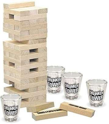 Adult Jenga Drunken Tower Drinking Games image 4