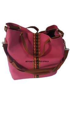 Pink Leather Handbag image 1