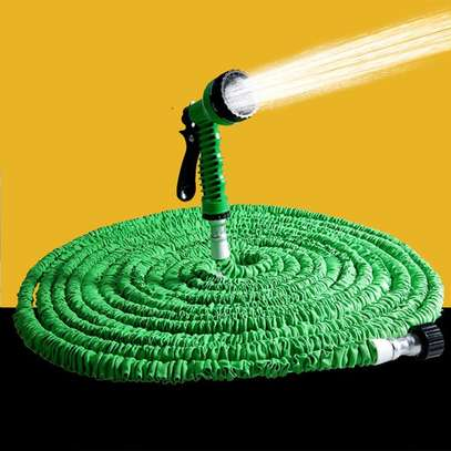 30mtrs 100FT Flexible Expandable Garden Magic Water Hose Pipe – Green image 3