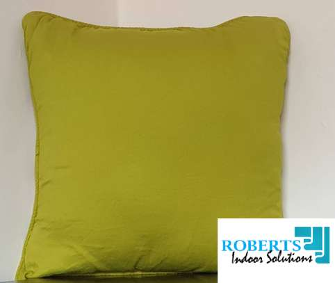 green soft throw pillow image 1