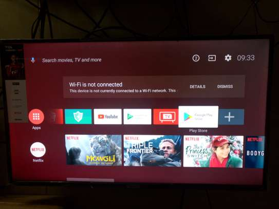Tcl 40 inch smart android TV at 29000