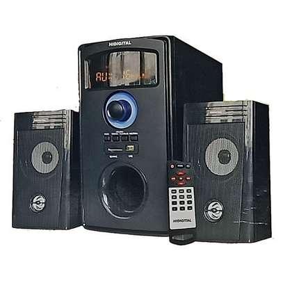 HiDigital SOUND SYSTEM - 2.1 Channel Woofer -Subwoofer Multimedia Speaker - 8800 pmpo - Bluetooth/usb/sd/fm digital radio image 1