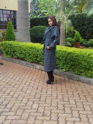Ladies Longline Coat Made in UK. image 2