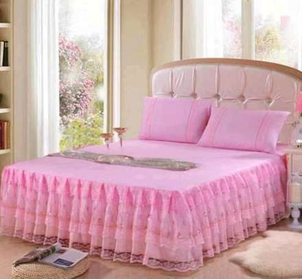 Cotton Bed skirt Bedcover image 2
