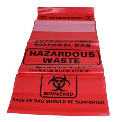 BIOHAZARD DISPOSABLE GARBAGE/TRASH BAGS image 2