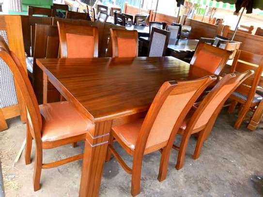 Solid dining table image 1