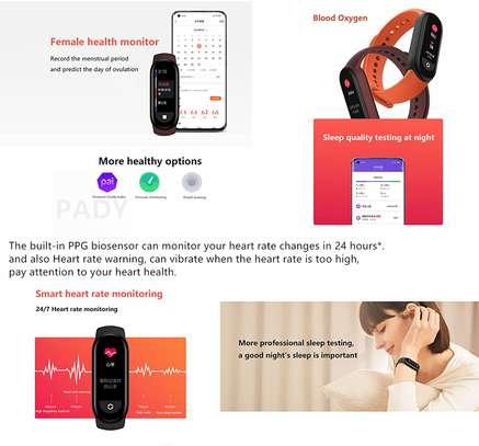 Xiaomi Mi Band 6 1.56 Inch Full Touch Screen Smart Watch - Black image 2
